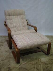 Image is loading Iconic-Norwegian-Westnofa-Teak-Bentwood-Lounge-Chair-&- & Iconic Norwegian Westnofa Teak Bentwood Lounge Chair u0026 Ottoman; Mid ...