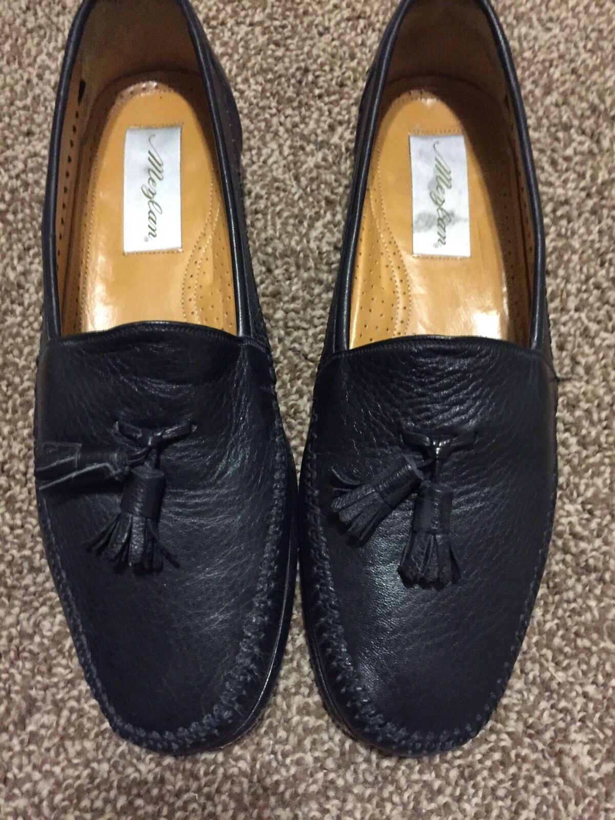 Extremely Rare Redondo Mezlan Leather Loafer uomo's Dress Shoes sz 9 1/2 Scarpe classiche da uomo