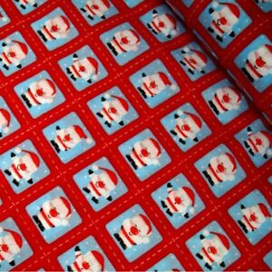 Christmas Wishes Stars /& Snowflakes Red And Green Polycotton Fabric
