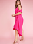 New-LANE-BRYANT-Cold-Shoulder-Sharkbite-Maxi-Dress-Pink-Magenta-Plus-24-26-28 thumbnail 1