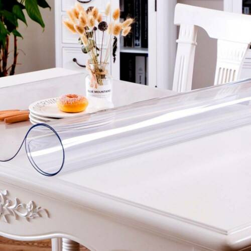 50*100cm Table Protector CLEAR PVC Table Cover 2mm Thick Plastic Tablecloth UK