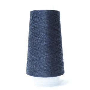 Color Azul Oscuro 100G 2//60NM 100/% fino hilo de seda 4119