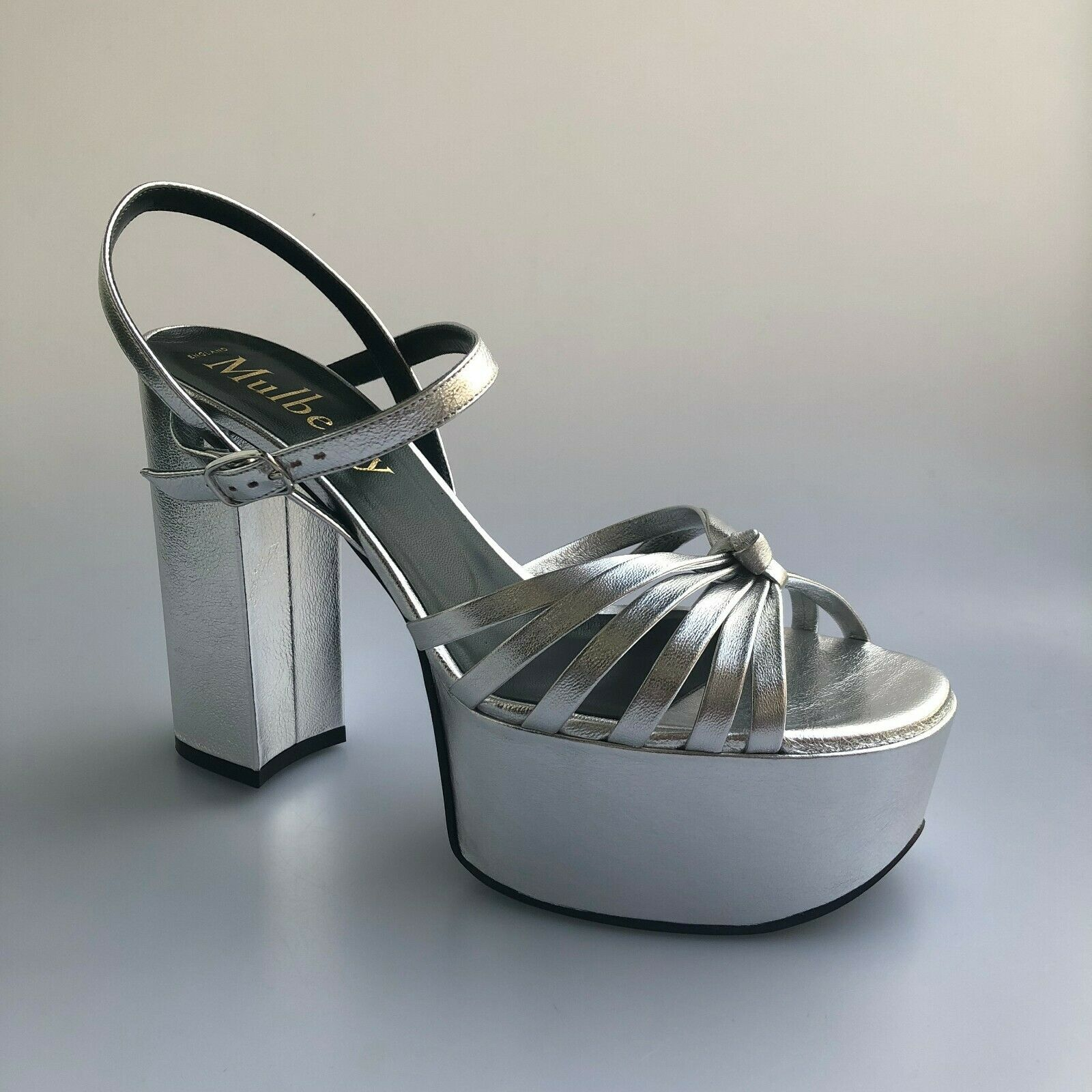 Mulberry Metallic Platform Sandals - Größe EU 38