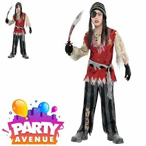 Child-Cutthroat-Pirate-Corpse-Costume-Boys-Halloween-Fancy-Dress-Outfit-Kids