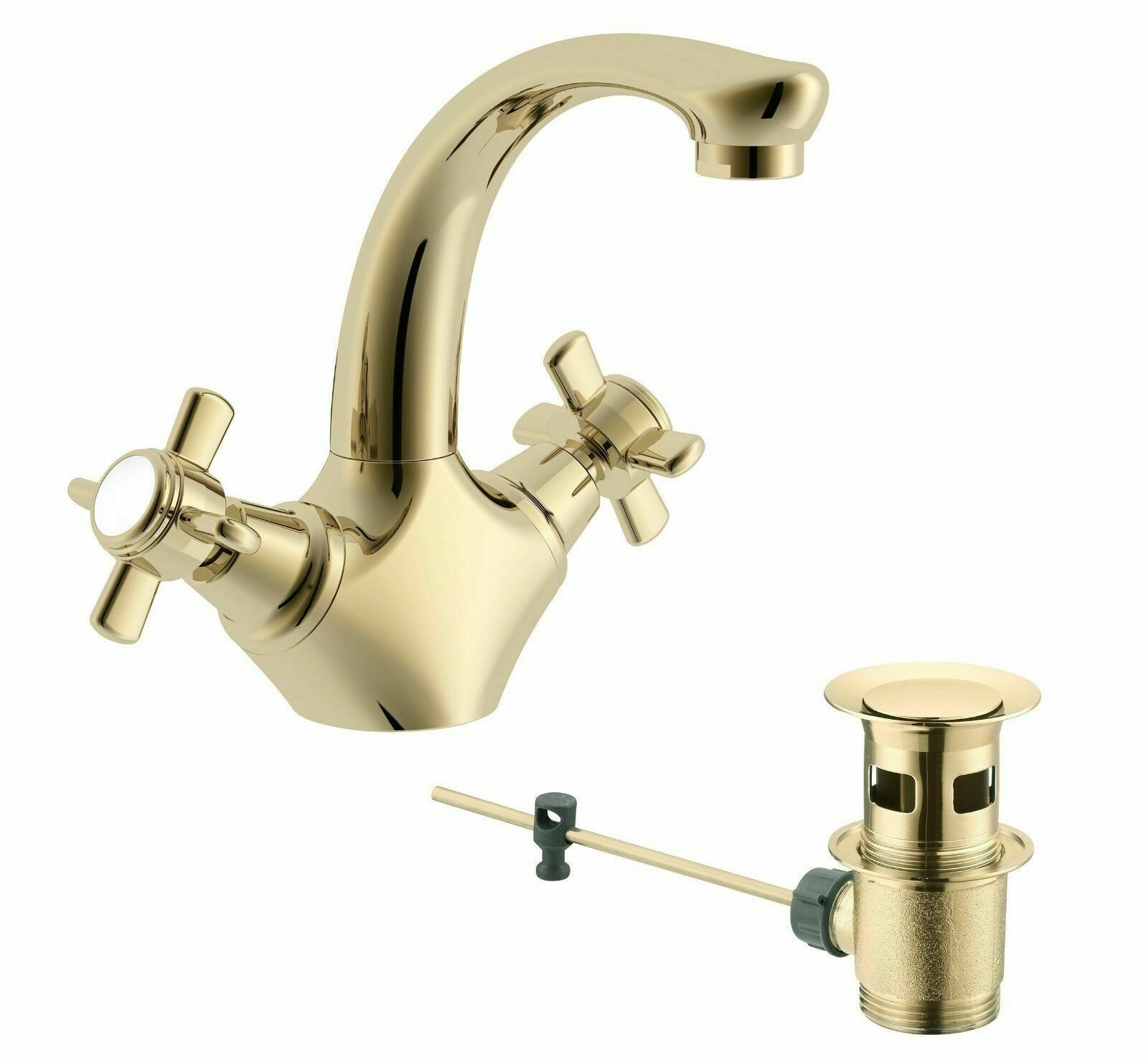 Cooke & Lewis Classic or Monobloc Bassin Mitigeur + Pop Up Waste