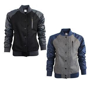 Nike-Womens-Wool-Destroyer-Varsity-Baseball-Popper-Jacket-Black-Navy-Grey-394688