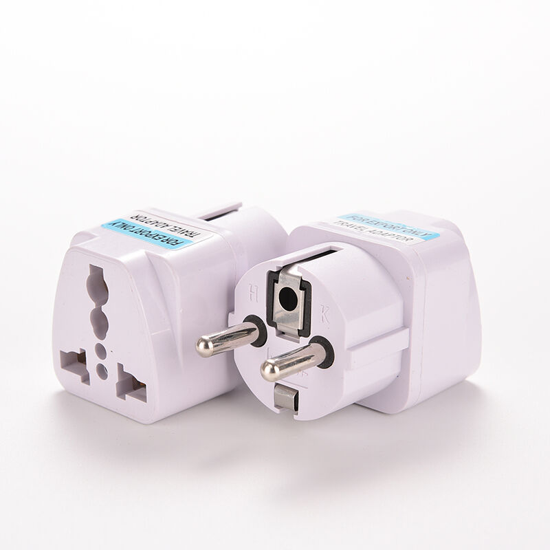Blanc AU / US / UK à UE UE UE Euro Plug AC Chargeur Voyage Adaptateur Convertisseur 9b2050