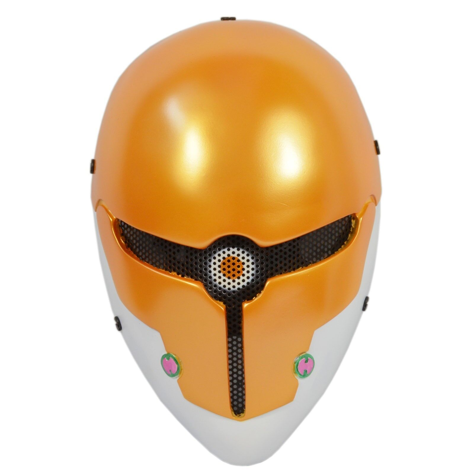 NEW Yellow Paintball Airsoft Wire Mesh Full Face Predection Robot Halloween Mask