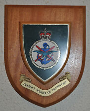 Defence School of Transport regimental mess wall plaque shield crest