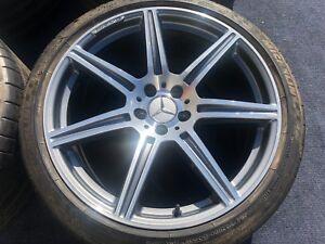 Image Is Loading 4 Genuine Mercedes Sls Sls63 63 Wheels Tires
