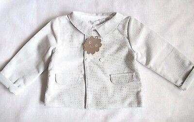 Patachou Baby Boy Lusso Designer Giacca Abiti Bianco / Beige Nuovo Rrp £ Diversione 37.00-mostra Il Titolo Originale Long Performance Life