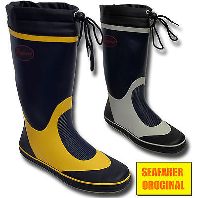 Homme marin voilier pont en caoutchouc bottes de pluie originales bottes taille uk | eBay
