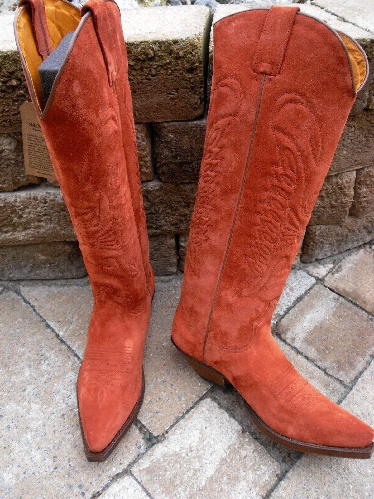 Sendra High Western botas 7167 Serraje Rust Talla 10,5 = 45 - 45,5