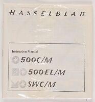 Hasselblad 500c/m 500el/m Swc/m Instruction Manual Sealed
