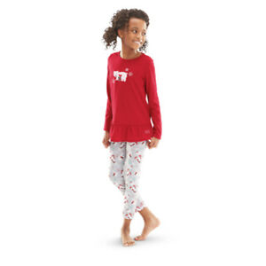 American Girl CL TRULY ME PLAYFUL POLAR BEAR PJS LARGE Red Girl Pajamas NEW