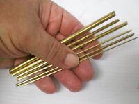 6 Knife Making Brass Rods, Odd Sizes, Brass Knife Pins