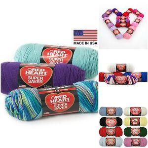 Red-Heart-Super-Saver-Yarn-Economy-E300-4-Medium-Worsted-No-Dye-Prints-Tones