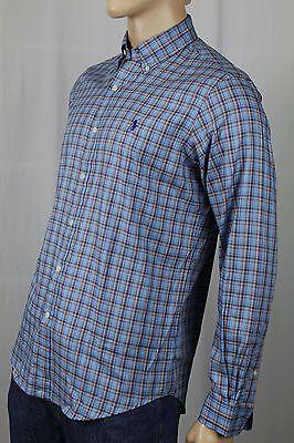 Polo Ralph Lauren Blue Red Green Plaid Classic Dress Shirt