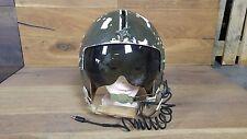 USAF Vietnam War Gentex Pilot Flyers Helmet With Visor and Headset Marked PEG418