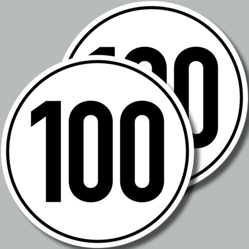 2 Aufkleber 10cm Sticker 100 kmh km//h Trailer Anhänger Mofa Quad Kart Vespa Spaß
