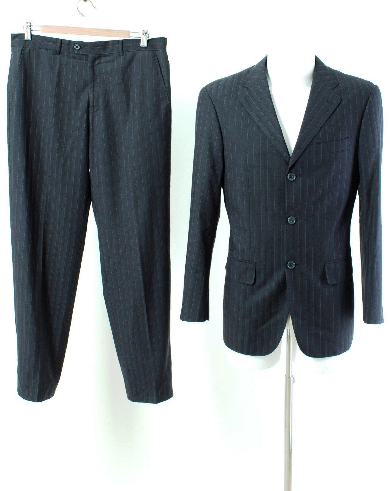 Sartoriale Anzug Gr. 50 / M Wolle SUPER 120'S Sakko Hose Geschäft Suit