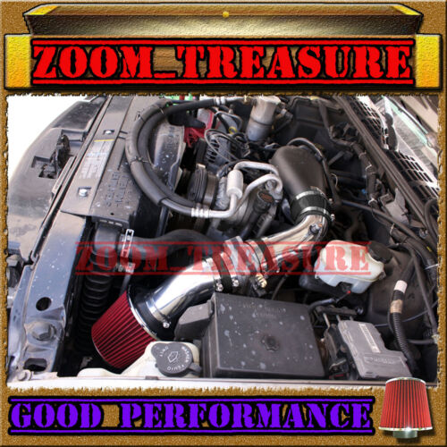 BLACK RED 1996-2005 CHEVY S10//ZR2//ZR5//BLAZER//SONOMA//JIMMY 4.3 V6 COLD AIR INTAKE