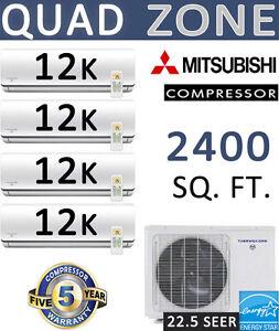 22-5-SEER-Quad-Zone-Ductless-Mini-Split-Air-Conditioner-Heat-Pump-12000-BTU-x-4