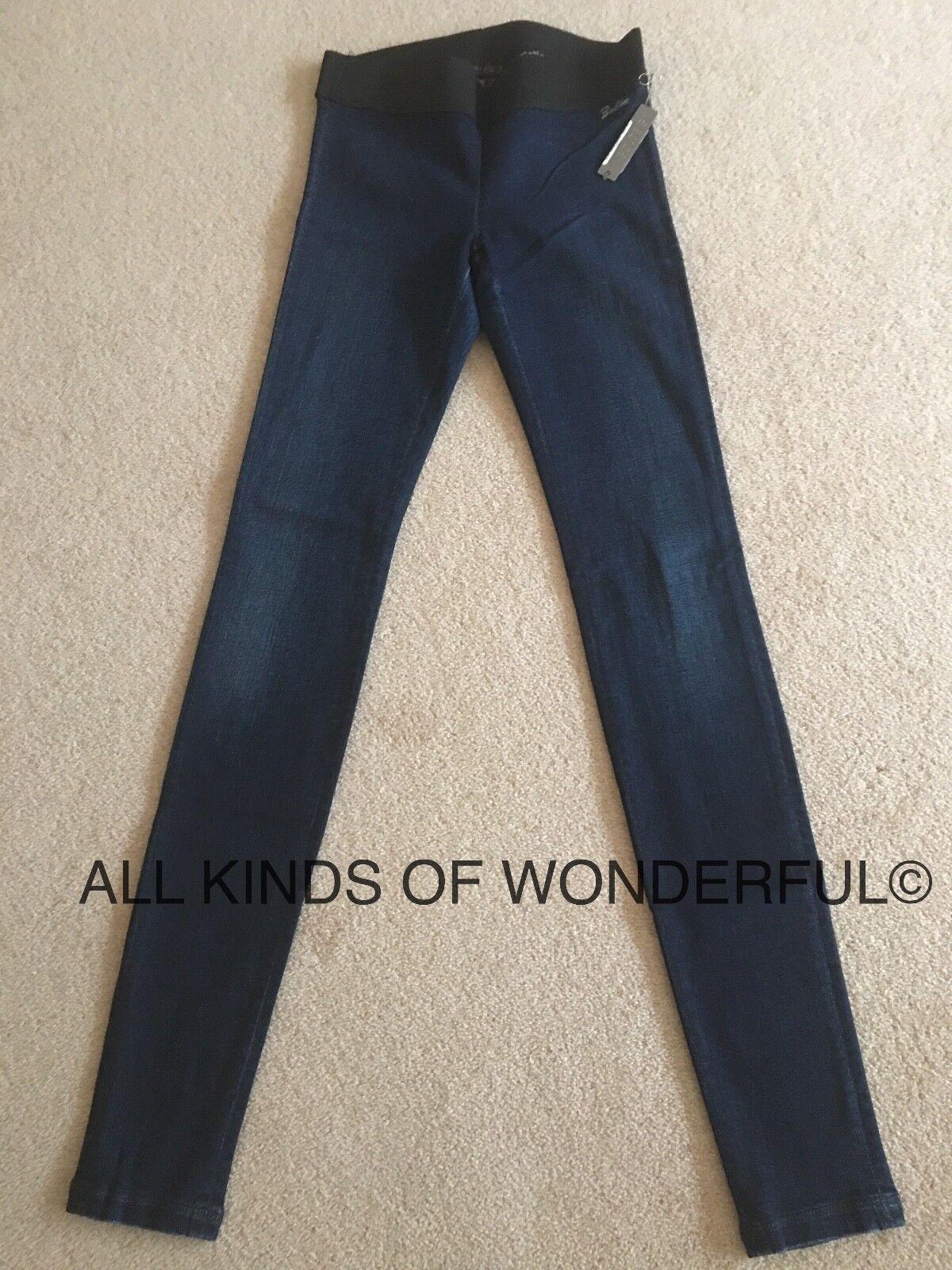 Goldsign Zebra Denim  Legging Skinny in Motif ( Dk Blau)  BNWT