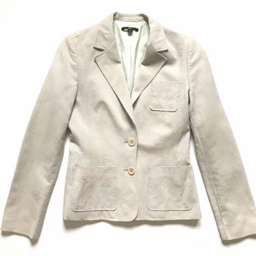 Hugo Boss Blazer Jacket Coat Women's 4 40 Gray Kha