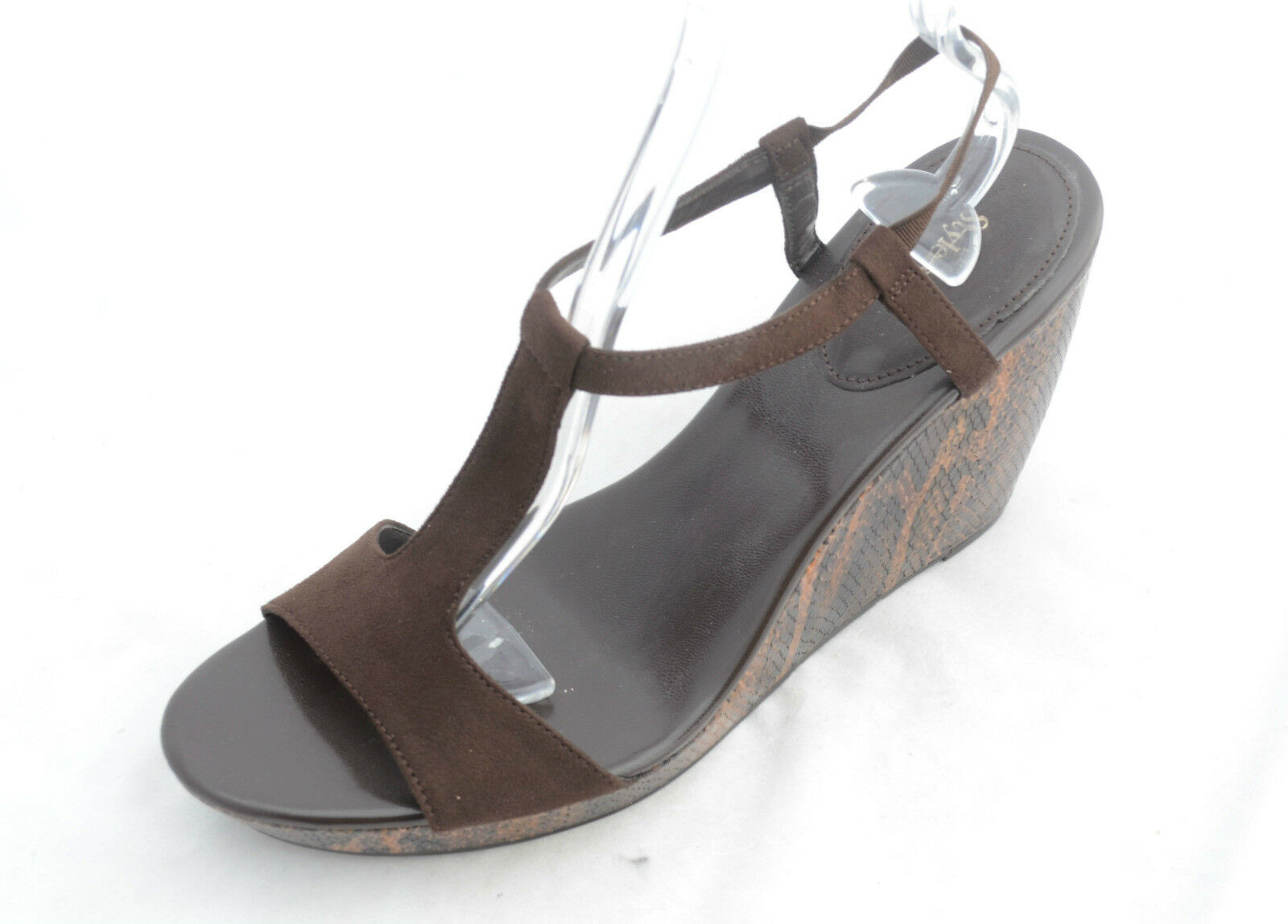 Style & Co Women's Kimmiee Wedge (9.5, Brown Snake)