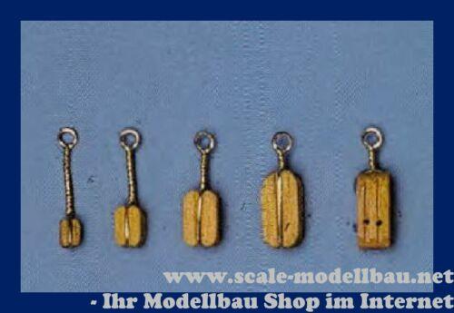 Aeronaut Klumpblock Holz hell 2 Rillen 7 mm VE 20 Stk