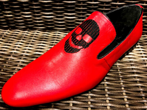 Designer cr 43 Chelsy cuir ne pour Handmade homme en Men Chaussure rouge de U54qWwv