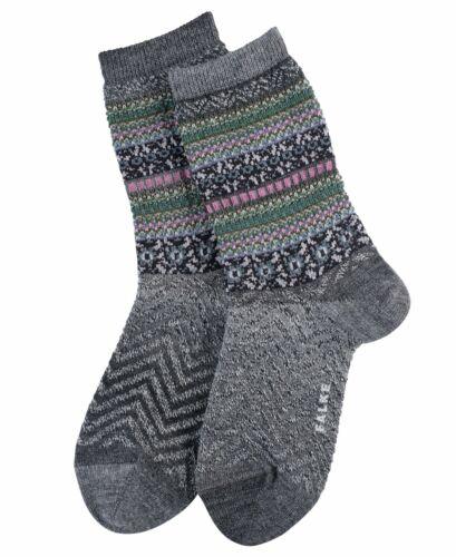 Women/'s Beige Red Grey Falke Hand Craft Aztec Nordic Ankle Socks UK Size 3-8