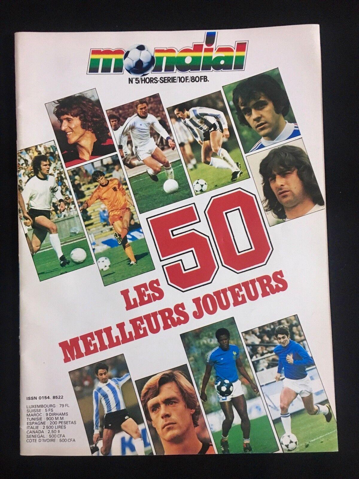 MAGAZINE MONDIAL Nº5 LES 50 MEILLEURS JOUEURS MUNDIAL FUTBOL 1978