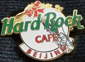 Hard-Rock-Cafe-BEIJING-1996-Christmas-PIN-White-HRC-Logo-Sax-XMAS-HRC-1128