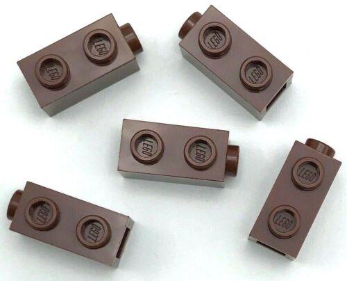 Lego 5 New Reddish Brown Bricks Modified 1 x 1 x 1 2//3 with Studs on 1 Side