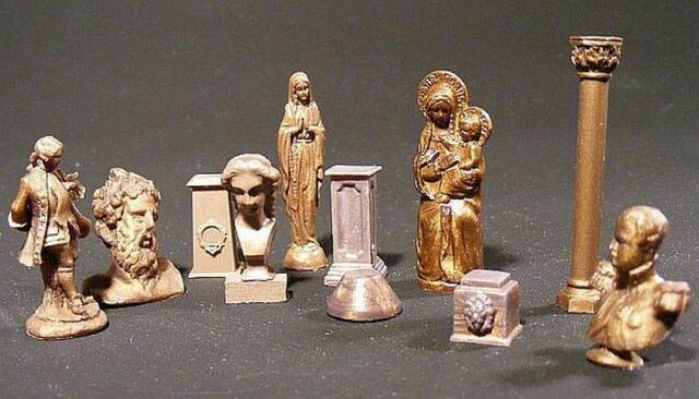 Reality In Scale 35137 Bronze Statues, Busts & Pedestals 1:35 diorama accessory