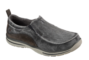 MEN'S SKECHERS RELAXED FIT  ELECTED - DRIGO CASUAL SLIP ON SHOES 64654 CHAR