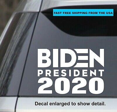 Joe Biden 2020 For President 7 5 Quot White Vinyl Decal