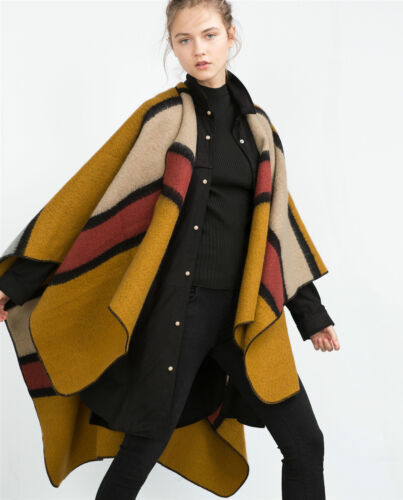 ZARA COLOURFULL STRIPED PONCHO