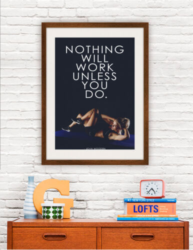 Motivation Workout Gym Fitness Yoga Quotes High Quality Wall Art Matte Poster