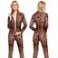 Womens-Sexy-Sheer-Bodysuit-CROTCH-ZIPPER-Open-Crotch-Catsuit-Jumpsuit-Romper Indexbild 4