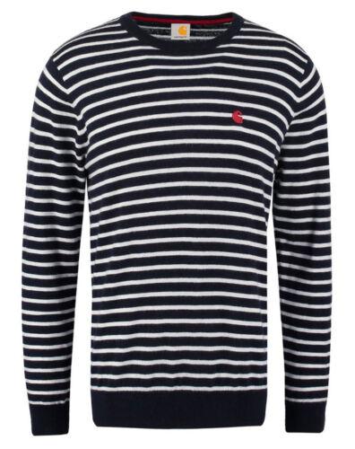 S 2XL Navy Weiß gestreift Carhartt Sweatshirt Herren Pullover Gr Robie