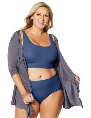 Details about  /Rhonda Shear Dusty Blue Invisible Body Brief Smoothing Panties Full Coverage NEW