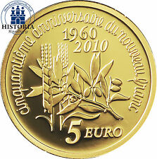 Frankreich 5 Euro Gold 2010 PP Säerin Serie: La Semeuse 50 Jahre neuer Franc