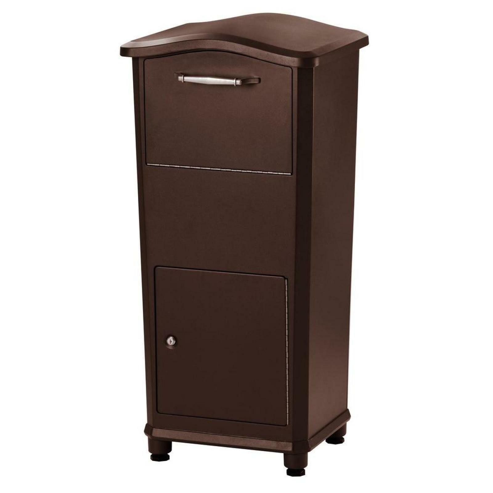 Elephantrunk Parcel Drop Box in Oil Rubbed Bronze Cast Aluminum Stainless steel