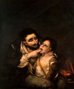 DIPHTHERIA EPIDEMIC DOCTOR MEDICINE PAINTING BY FRANCISCO GOYA - Francisco goya paintings