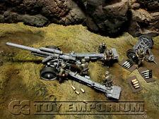 Custom Built 1:35 WWII Deluxe German sFH 18 Howitzer & Limber w/ 6 Man Gun Crew