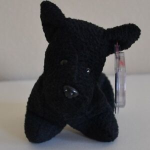 3dc2bb104d8 Ty Beanie Baby - SCOTTIE- Plush Beanbag Terrier Dog 6-15-96 Style ...