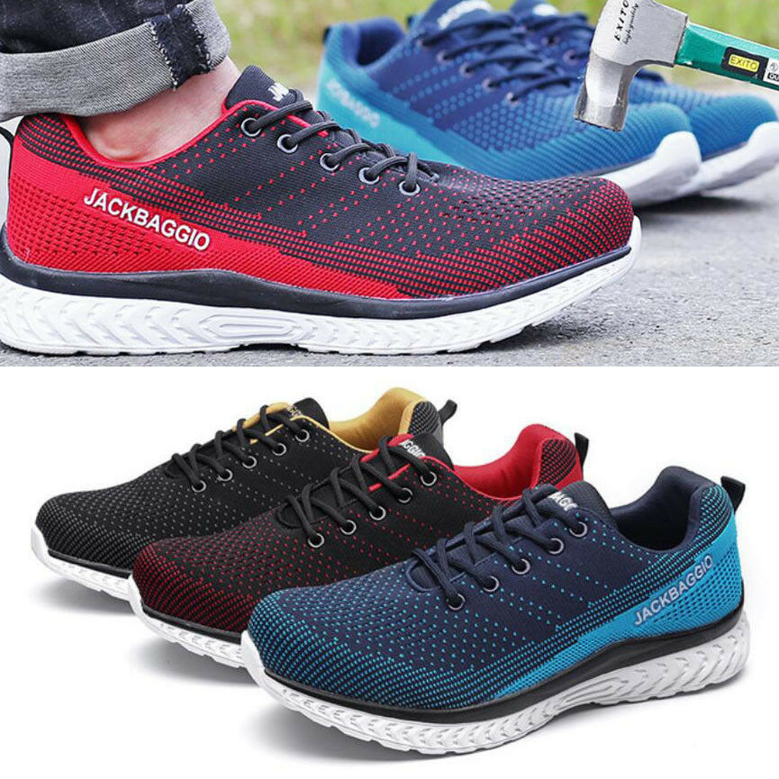 Mens Lightweight Work Steel Toe Cap Safety shoes Mesh Breathable Sneakers Boots
